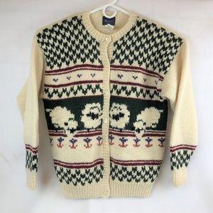 Woolrich Button Down Wool Sweater Cardigan Vintage